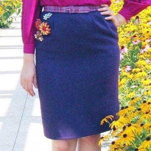 VTG 80s Sassco Purple Tweed Pencil Skirt w/Pockets